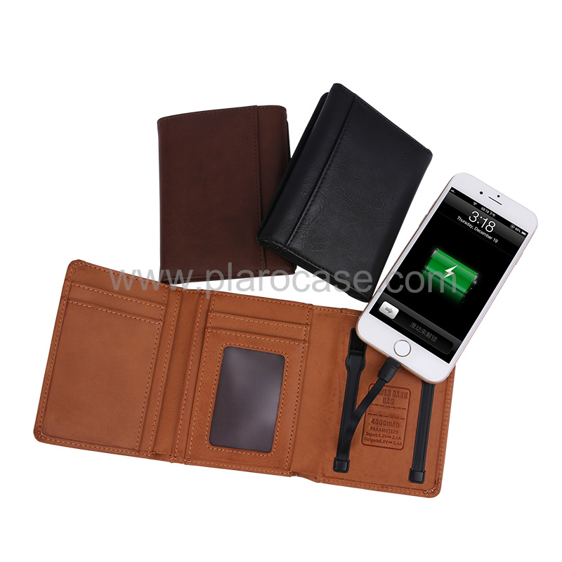 Wallet with Power Bank 4000mah