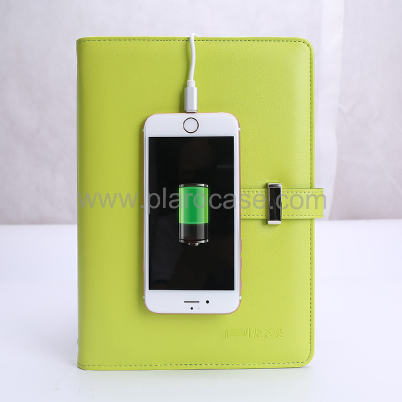 A5 Power Bank Notebook 2 Cables Design