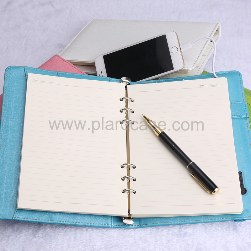 a5 power bank diary with elastic band 3