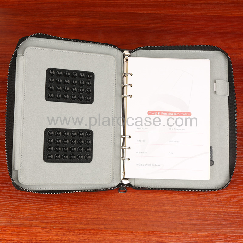 a5 power bank diary zipper lock with ipad mini holder 6