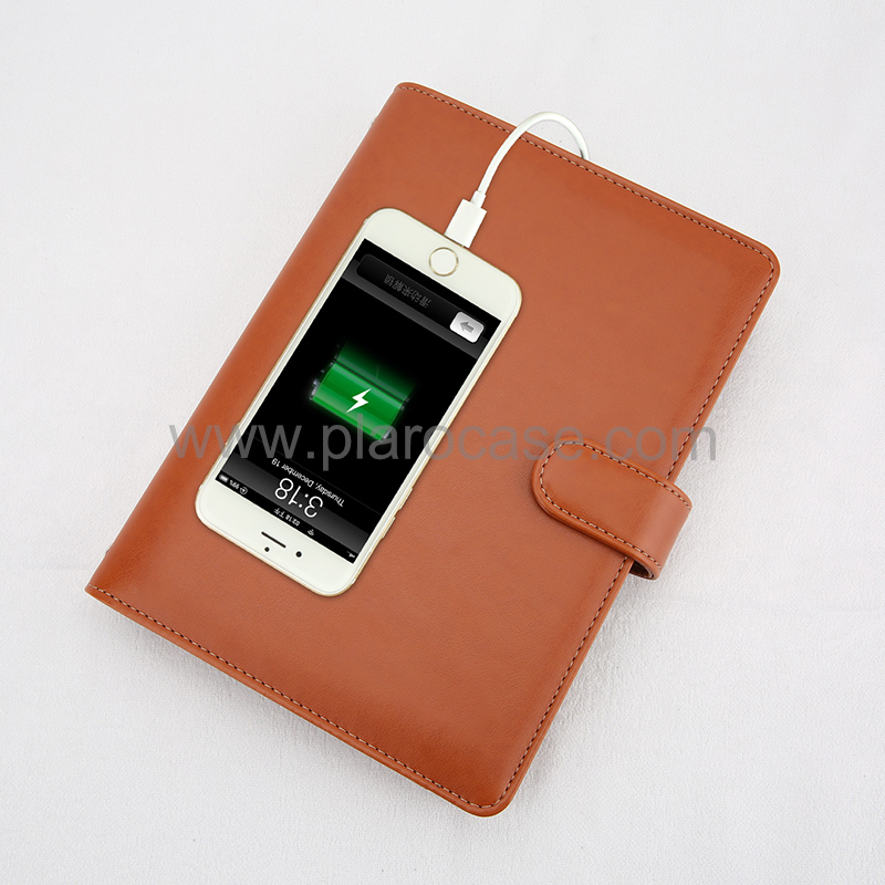 A5 Notebook with Power Bank and Magnetic Buckle