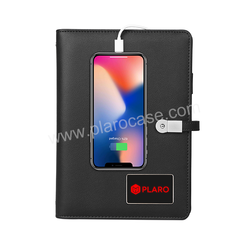 Notebook with Power Bank and USB and Lighting LOGO