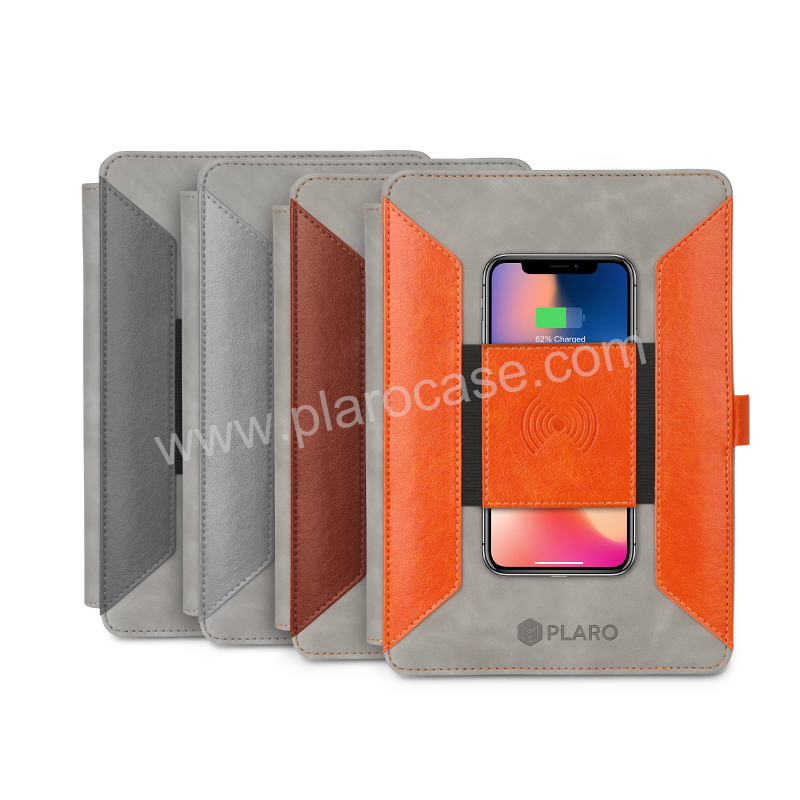 Multifunctional Folder with Wireless Charger and Power Bank