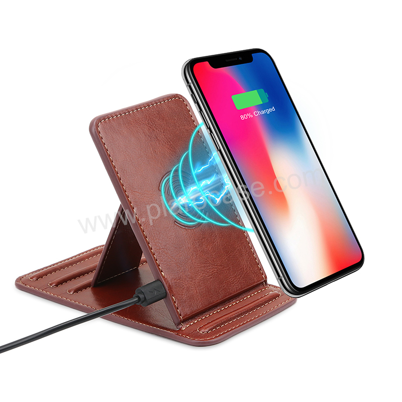 Office Desk Mobile Phone Holder with Wireless Charger