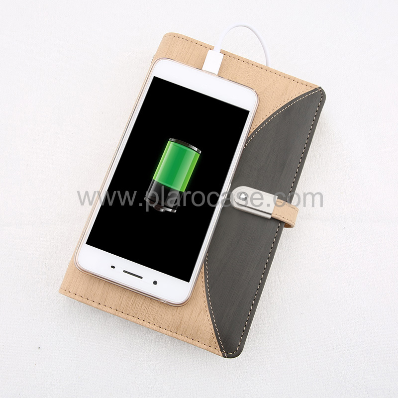 A6 Power Bank Notebook with USB Memory 2 Cables Design