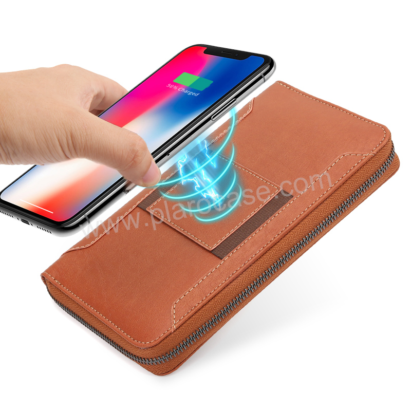 Wireless Charger Wallet with 8000mAh power bank