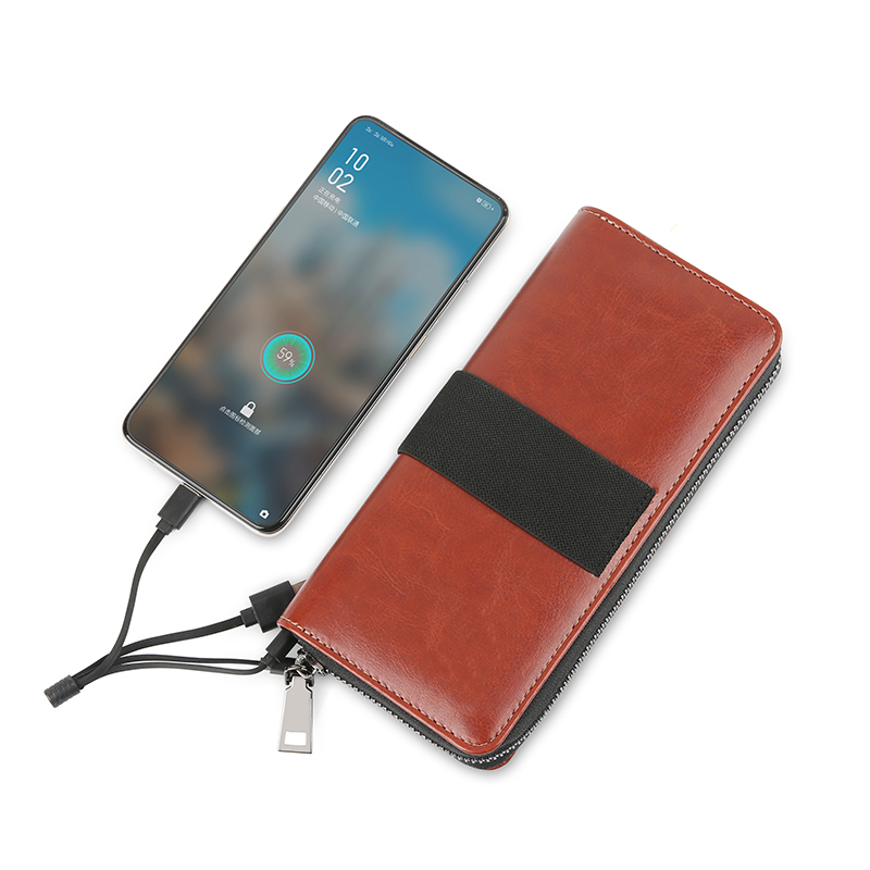 Wireless Charger Wallet with 6000mah