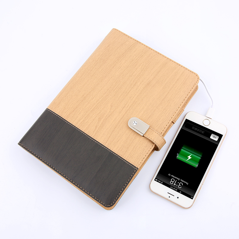 A5 Power Bank Notebook with USB Memory Color Mixed