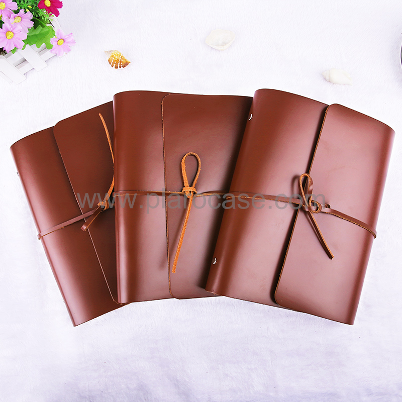 A5 Real Leather Notebook with Power Bank