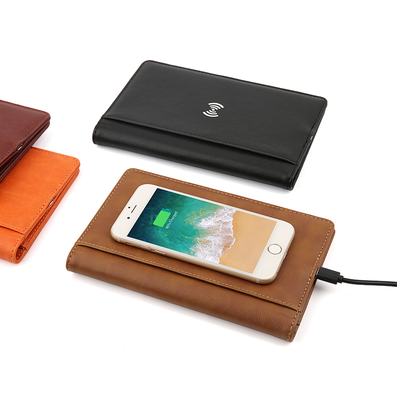 Wireless Charger Passport and Card  Holder with Pen Set