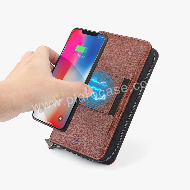 Two-Way Wireless Charging Wallet with Power Bank