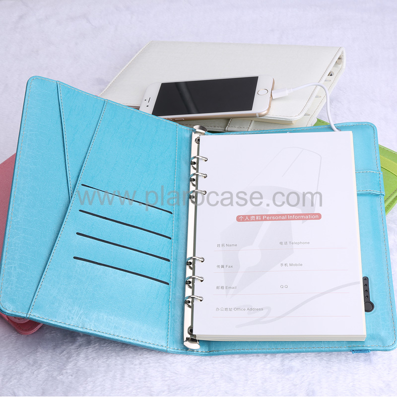 a5 power bank diary with elastic band 2