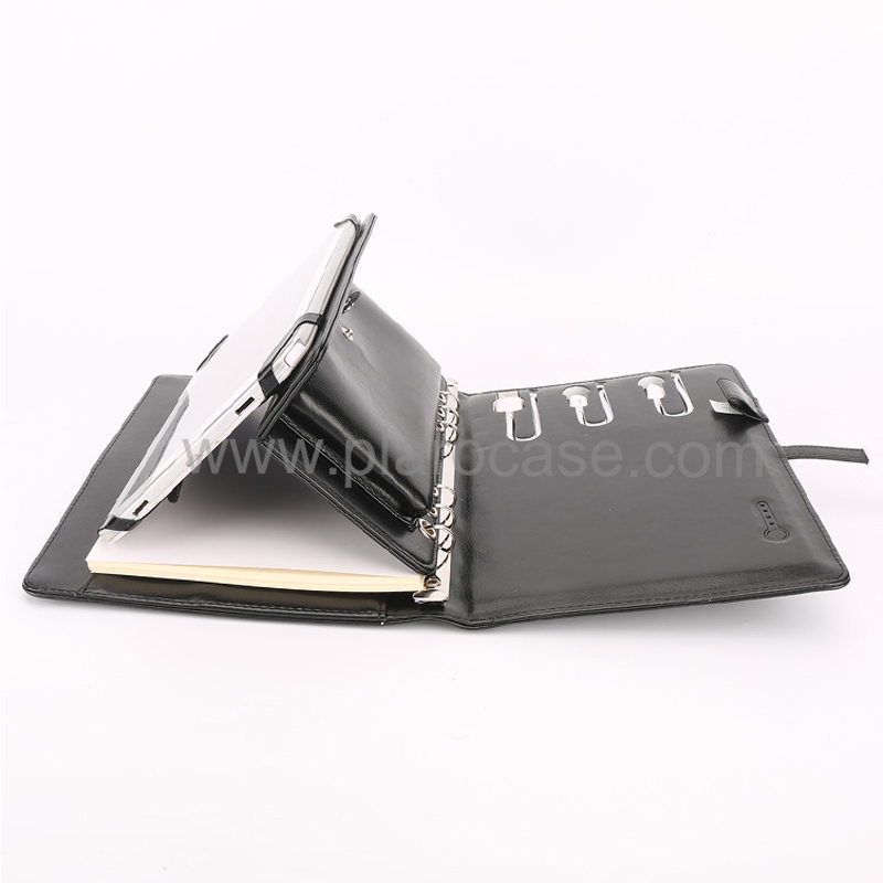 A5 Power Bank Notebook with USB Memory and Ipad Mini Holder