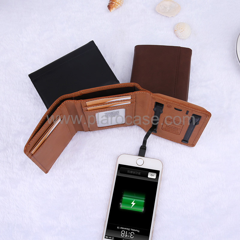 Wallet with power bank 4000mah 3