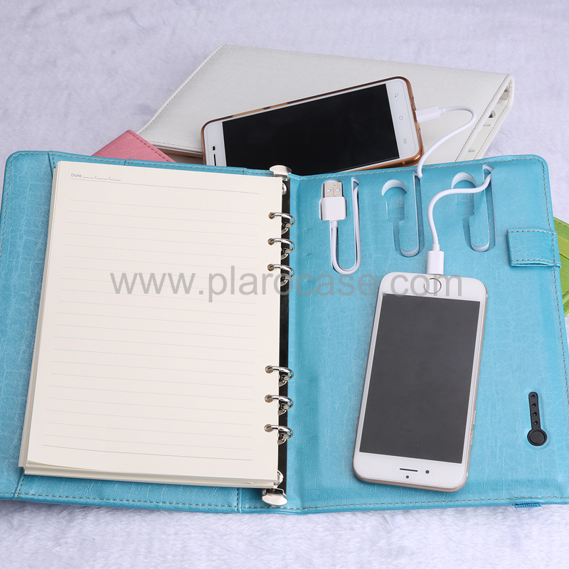 a5 power bank diary with elastic band 4