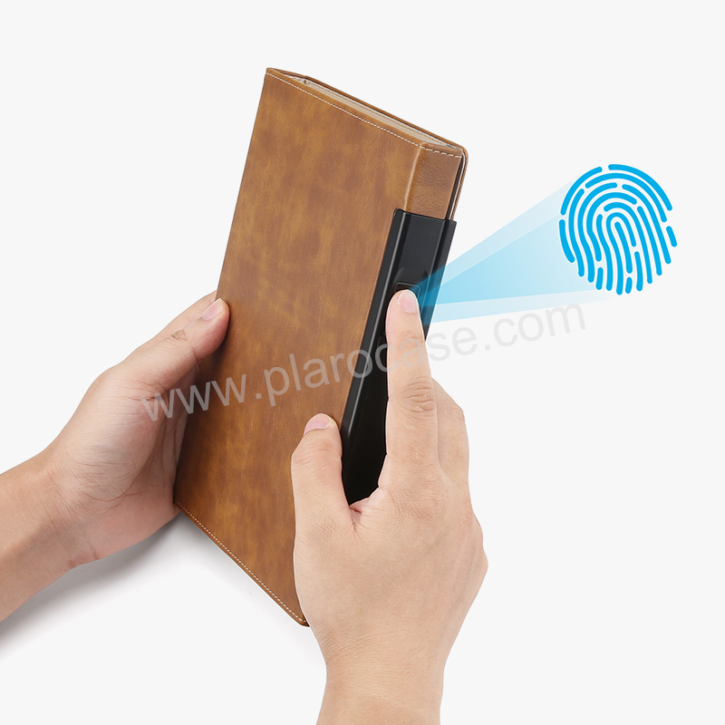 A5 Size Notebook with Fingerprint Lock