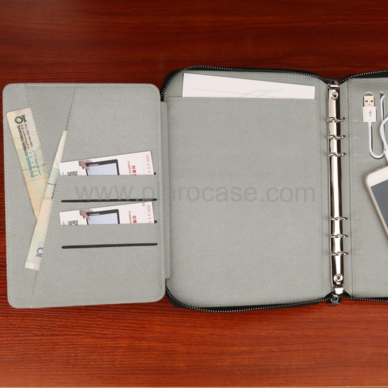 a5 power bank diary zipper lock with ipad mini holder 7