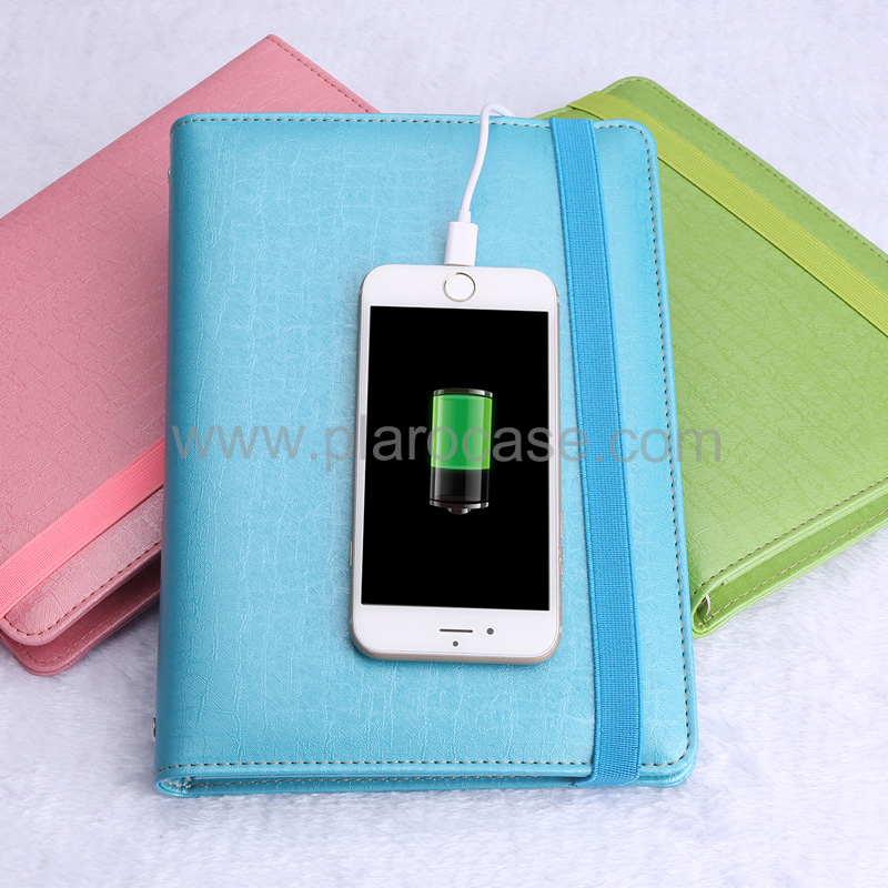A5 Power Bank Notebook with Elastic Band