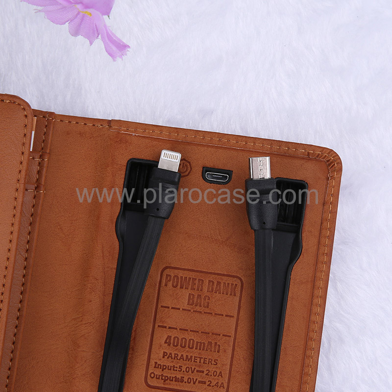 Wallet with power bank 4000mah 5